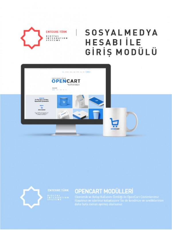 Opencart 2.0 Social Login (Google+, Facebook, Twitter, Instagram, daha fazlası )